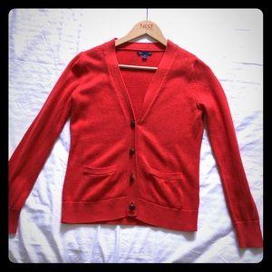 GAP Red cardigan XS